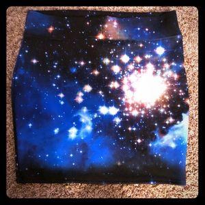 intergalactic galaxy mini skirt